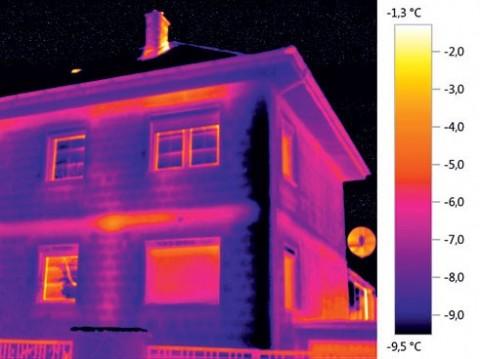 Analýza budovy pomocí termokamery