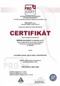 Certifikát OHSAS 18001