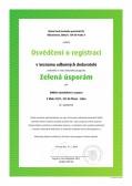 Osvědčení Zelená úsporám