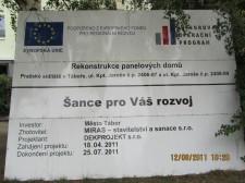 Rekonstrukce panelového domu - Tábor, Kpt. Jaroše 2406, 2407, 2408, 2409 č.1